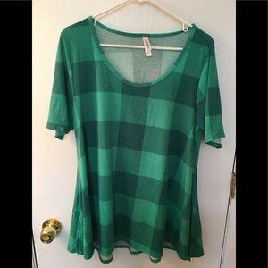 LuLaRoe  Perfect Large Green Top